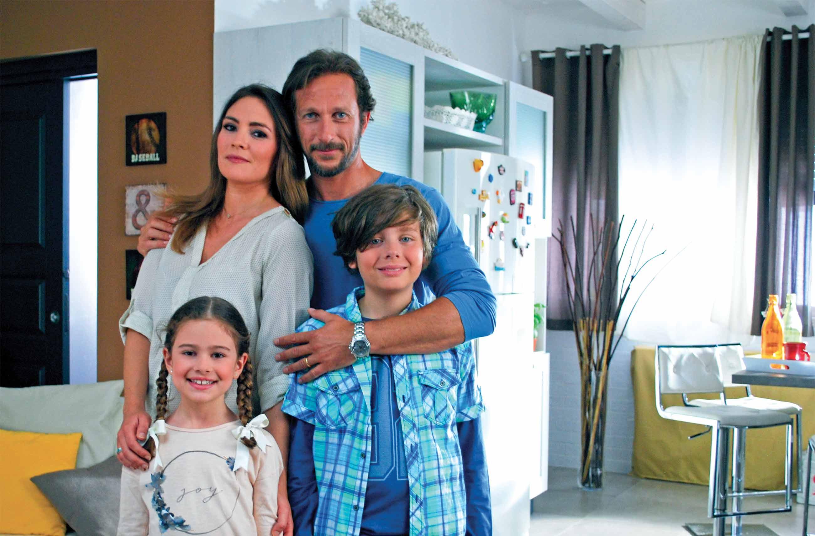 Foto famiglia casa azzurri